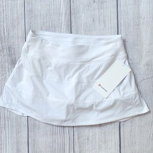 NWT LULULEMON Pace Rival Mid Rise TENNIS Skirt White 6 Reg